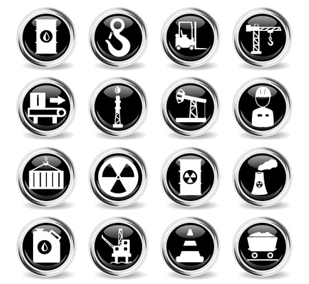Industrial simply symbol for web icons and user interface