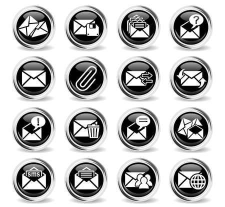 sent: mail and envelope web icons for user interface design Illustration