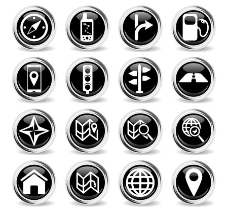 refueling: Navigation simply symbol for web icons and user interface