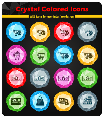 marketing and e-commerce icons for web and user interface Illustration