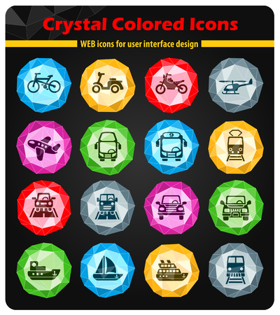 monorail: transport web icons for user interface design Illustration