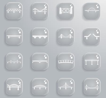 Bridges silhouet simpelweg pictogrammen voor websites