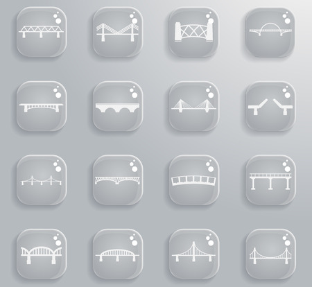 balustrade: Bridges silhouette simply icons for web sites