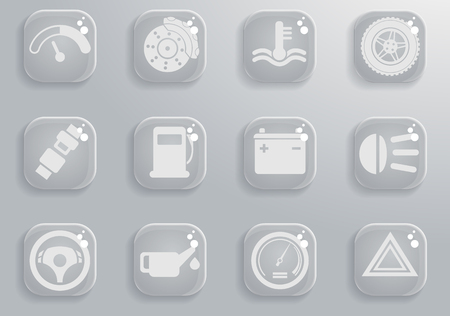 Car interface simply symbol for web icons and user interface Illustration