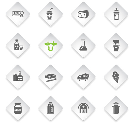 milk flat web icons for user interface design Ilustrace