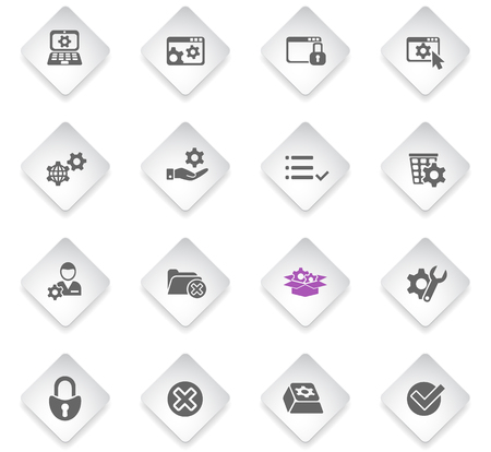 settings flat web icons for user interface design