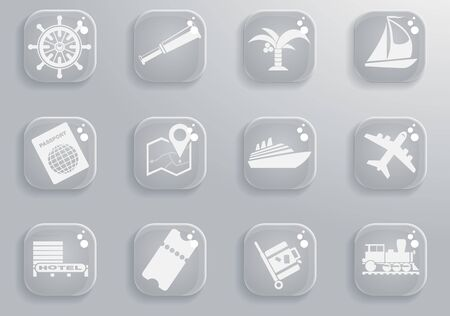 Toerisme en Reizen gewoon symbolen voor web en gebruikersinterface Stockfoto - 73973385