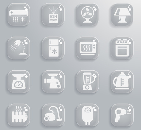 boiler: home appliances web icons for user interface design