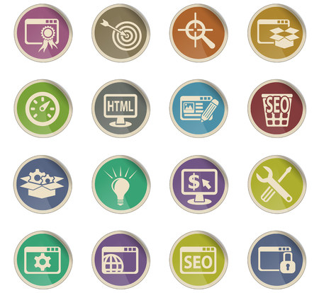 targetting: seo and development web icons for user interface design