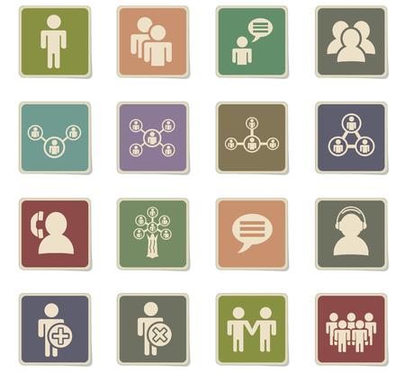 globe logo: community web icons for user interface design