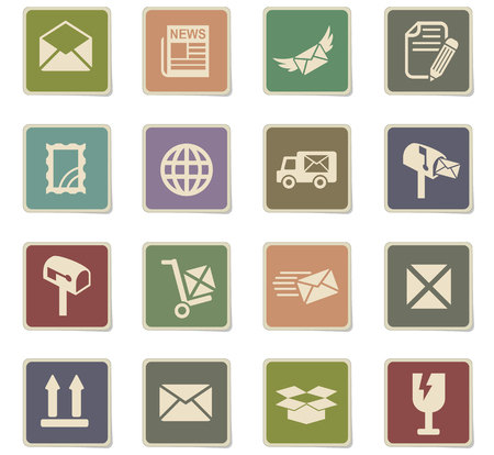 sent: post service web icons for user interface design