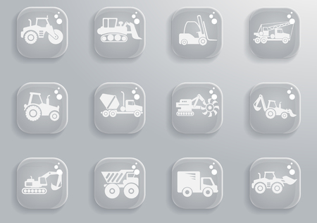 hard drive: Construction Machines  simply symbols for web and user interface Illustration