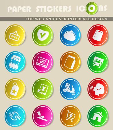 e-commerce vector icons for user interface design Ilustracja