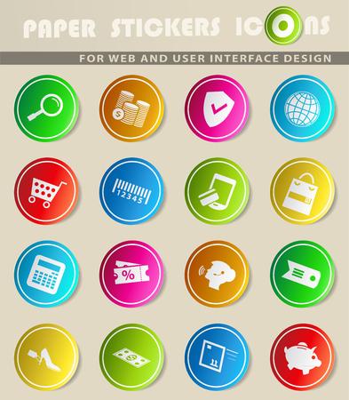 e-commerce vector icons for user interface design Illustration