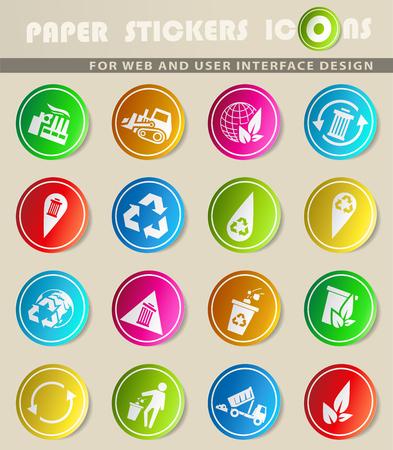 Müll-Vektor-Icons für Benutzeroberfläche Design Standard-Bild - 74079982