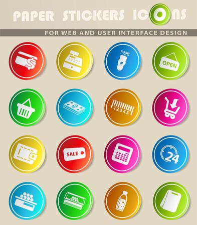 Ikony sklepu spożywczego wektora do projektowania interfejsu użytkownika