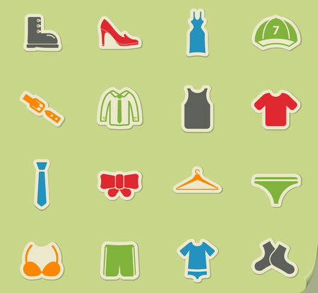 Clothes simply symbol for web icons and user interface