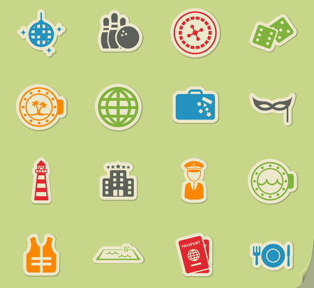 lifejacket: Cruise simply symbol for web icons and user interface