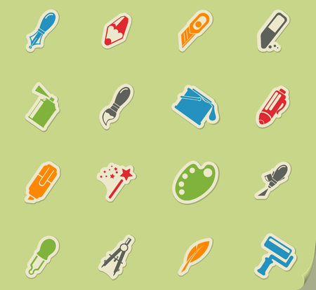 Design tools simply icons for web and user interface