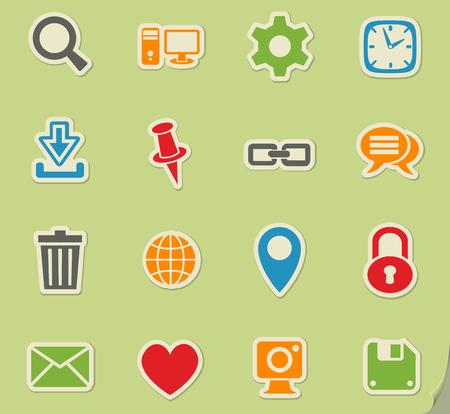 icônes web blog pour la conception d'interface utilisateur