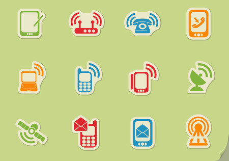 tv tower: communication web icons for user interface design