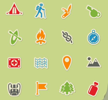 day of skouts web icons for user interface design