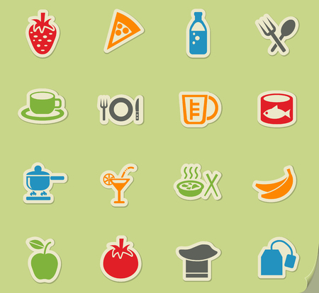 ice tea: food and kitchen web icons for user interface design Illustration