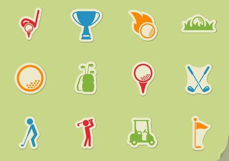 Golf einfach Symbol für Web-Icons und Benutzeroberfläche