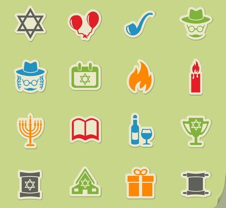 gelt: hanukkah web icons for user interface design Illustration