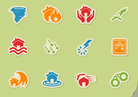 Home Insurance simply symbols for web and user interface Illustration