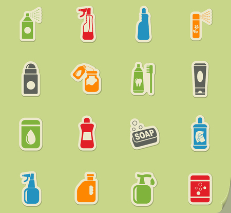 freshener: household chemicals web icons for user interface design Illustration