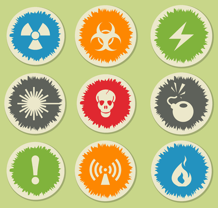 Hazard simply symbols for web and user interface