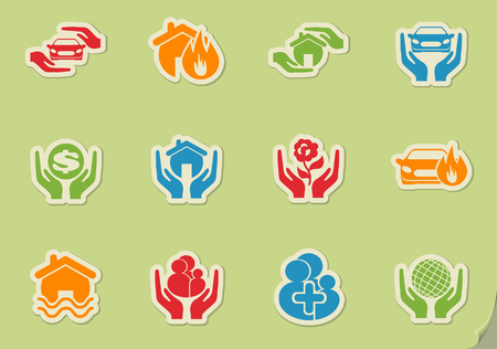 insure: Insurance simply symbol for web icons and user interface Illustration