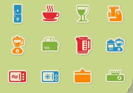 removing: Kitchen Utensils simply symbols for web and user interface Illustration