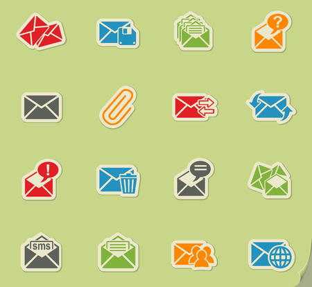 unread: mail and envelope web icons for user interface design Illustration