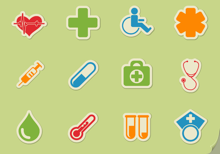 catheters: Medical simply symbol for web icons and user interface Illustration