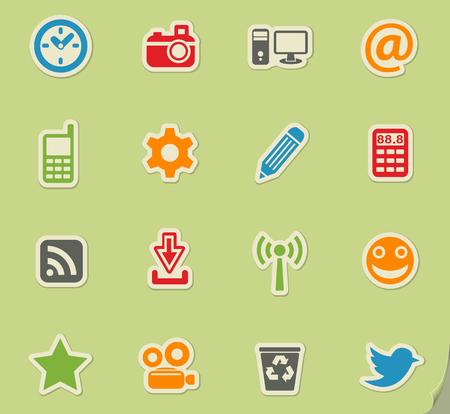 socializing: social media web icons for user interface design Illustration