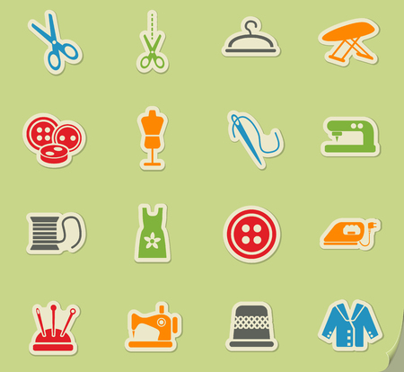 tailoring web icons for user interface design Illustration