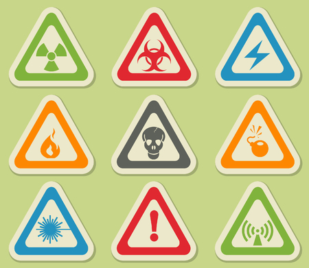 chemical weapon symbol: Hazard simply symbols for web and user interface