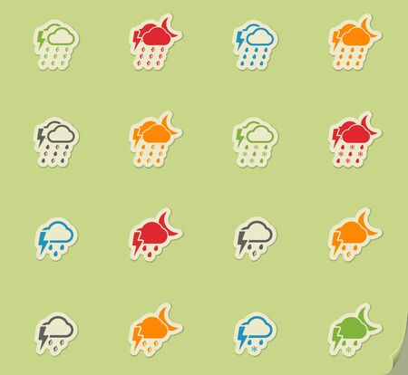 Weather simply icons for web and user interface Illustration