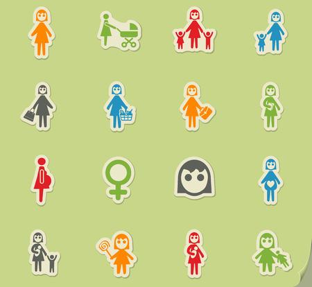 Frau Web-Icons für User Interface Design Illustration