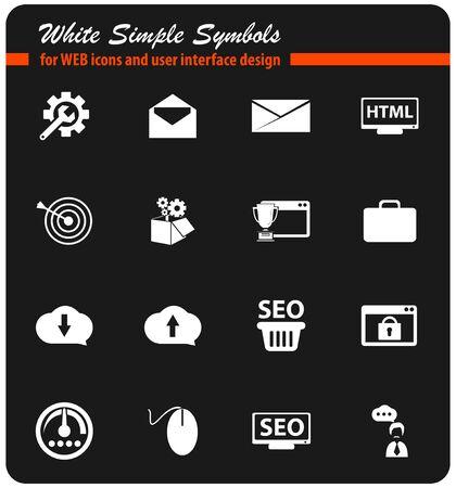 optimisation: seo vector icons for user interface design Illustration