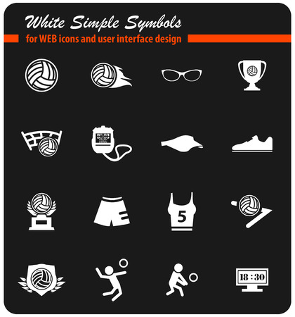 volleyball vector icons for user interface design