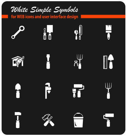 work tools vector icons for user interface design
