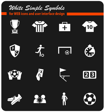 football vector icons for user interface design Illustration