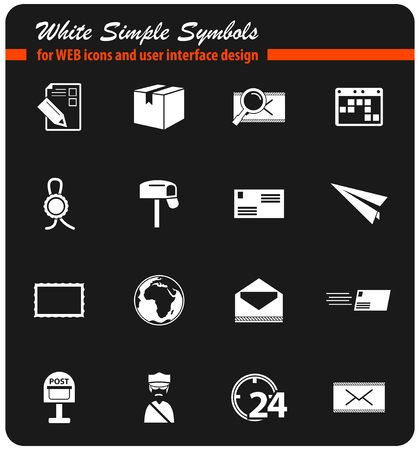 post service vector icons for user interface design