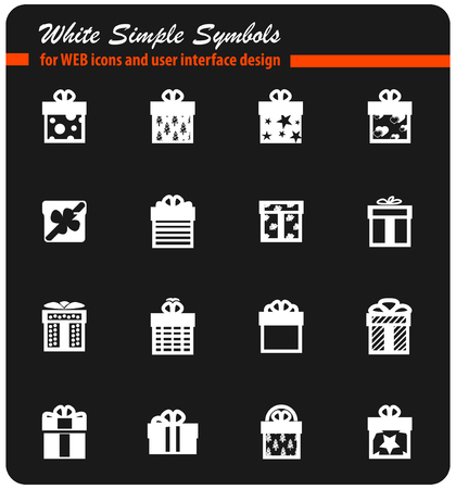 gifts vector icons for user interface design