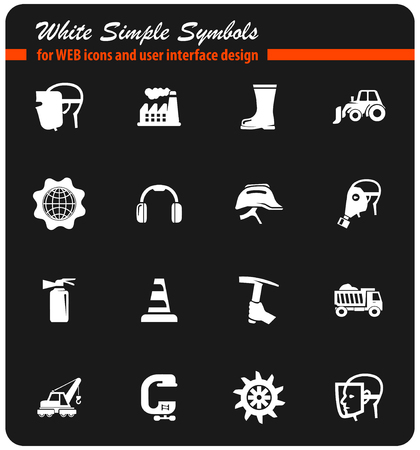 industrial vector icons for user interface design