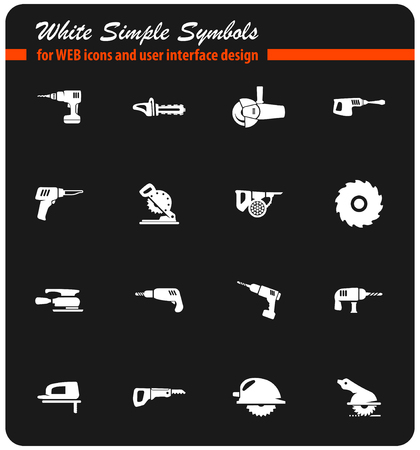 industrial equipment vector icons for user interface design