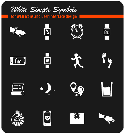jogging vector icons for user interface design Illustration